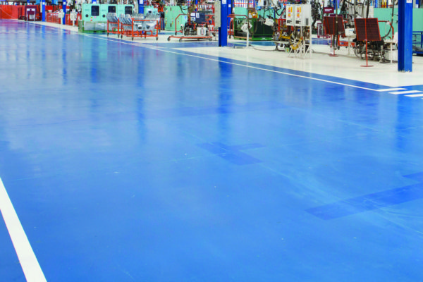 Epoxy resin flooring