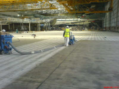 heathrow hangar floor preparation
