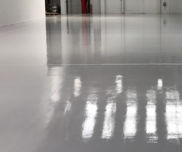 grey epoxy flooring
