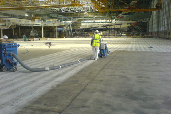 heathrow hangar floor preparation 2006