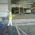 Heathrow hangar floor preparation
