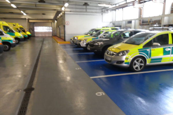 Ambulance service car park floring