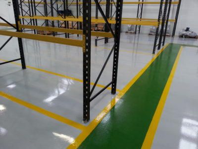 warehouse resin floor