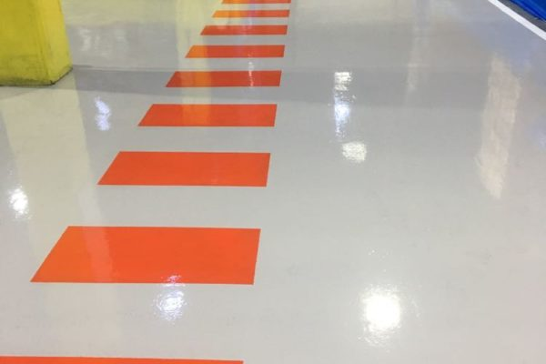 grey epoxy floor