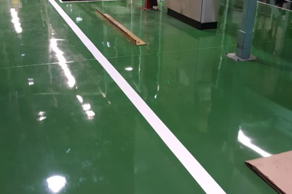 green chemical resistant floor