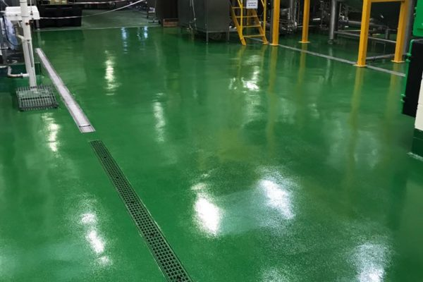 green epoxy resins floor