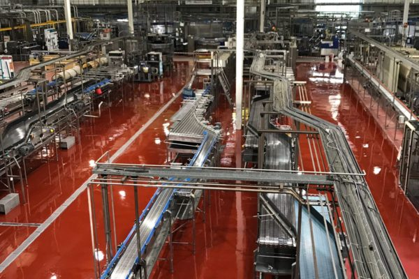 Drinks manufacturing flooring