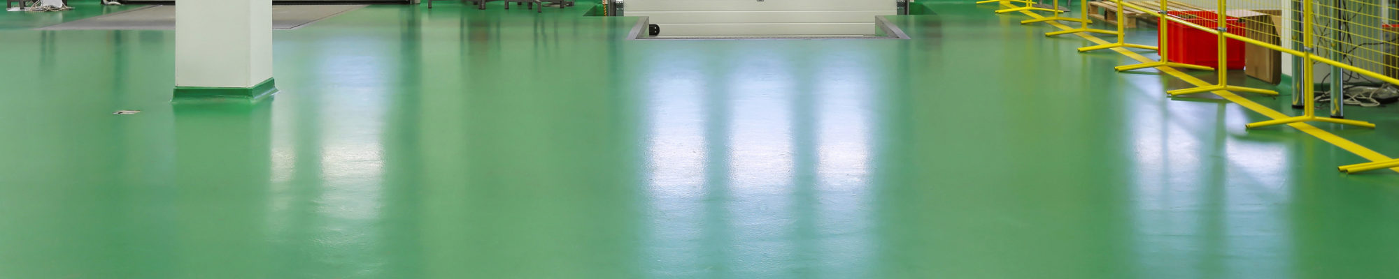 Loading bay green resin floor