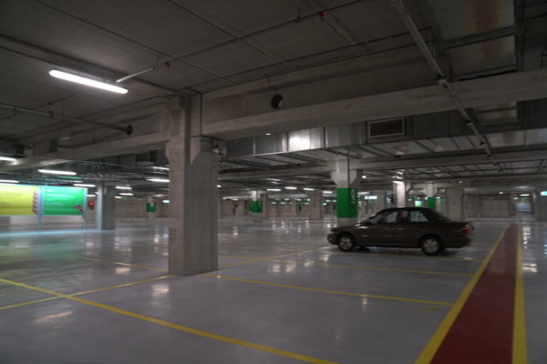 Car Park decking system with lines